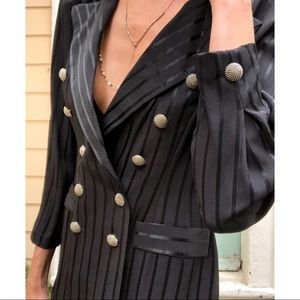 Vintage military style blazer